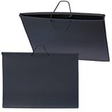 Папка для рисунков и чертежей, А2, 640×470 мм, с ручками, пластиковая, черная