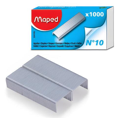 Скобы для степлера MAPED (Франция), №10, 1000 шт.