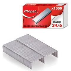 Скобы для степлера MAPED (Франция), №24/<wbr/>6, 1000 штук