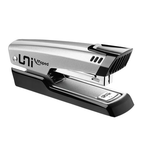 """Степлер MAPED (Франция) """"Universal Metal"""", №24/6-26/6, до 25 листов, металлический, серый с черной накладкой"""