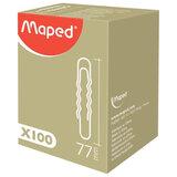 Скрепки MAPED (Франция), 77 мм, металлические, гофрированные, 100 шт., в картонной коробке