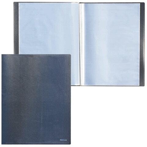 Папка 20 вкладышей ERICH KRAUSE «DIAMOND», А3, вертикальная, черная, 0,8 мм