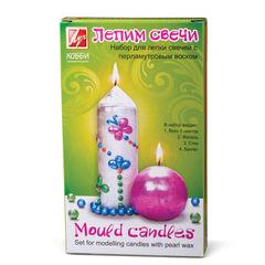 Набор для изготовления свечей ЛУЧ «Лепим свечи»: восковые пластины перламутровые 5 шт., фитиль, стек
