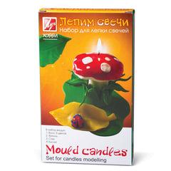 Набор для изготовления свечей ЛУЧ «Лепим свечи»: восковые пластины 5 шт., 5 цв., фитиль, стек