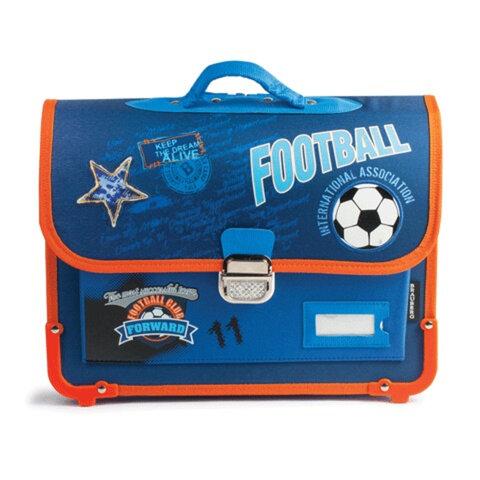 Ранец жесткокаркасный BRAUBERG (БРАУБЕРГ) для учеников начальной школы, «Футбол», 14 литров, 38×30×12 см