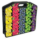 Сумка пластиковая BRAUBERG, A4 37×30 см, на молнии, цветная печать, для девочек, универсальная, фрукты