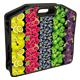 Сумка пластиковая BRAUBERG (БРАУБЕРГ), A4 37×30 см, на молнии, цветная печать, для девочек, универсальная, фрукты