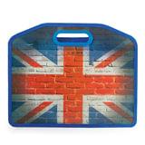 Сумка пластиковая BRAUBERG, A4 37×30 см, на молнии, цветная печать, универсальная, флаг