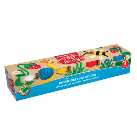 """Пластилин на растительной основе (тесто для лепки) ERICH KRAUSE """"Artberry"""", 4 цвета, 140 г"""