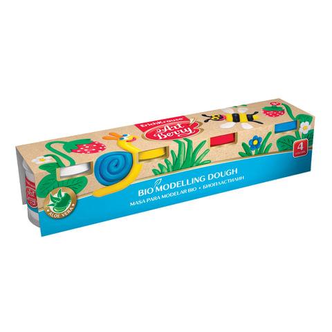 """Пластилин на растительной основе (тесто для лепки) ERICH KRAUSE """"Artberry"""", 4 цвета, 400 г"""