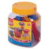 Пластилин на растительной основе ERICH KRAUSE Artberry «Game Planet» («Игровая планета»), 4 цвета, 140 г + 10 предметов
