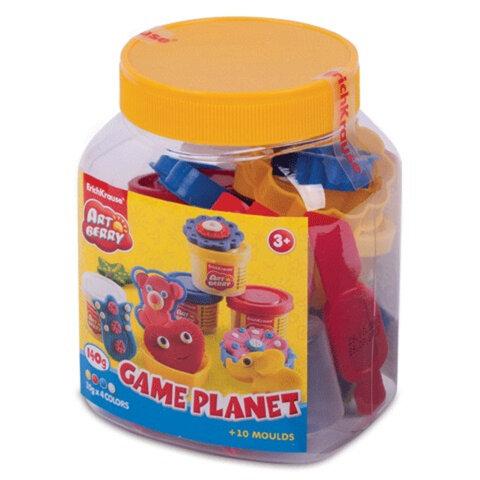 Пластилин на растительной основе (тесто) ERICH KRAUSE «Artberry», «Game Planet», 4 цвета, 140 г