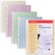 Папки-файлы перфорированные, A4, ERICH KRAUSE, комплект 100 шт., гладкие, цветные,4 цвета ассорти, 0,03 мм