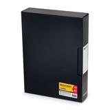 Папка 100 вкладышей BRAUBERG «Business» (БРАУБЕРГ «Бизнес»), черная, 0,8 мм, в пластиковом коробе