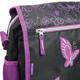 Сумка на ремне BRAUBERG (БРАУБЕРГ) для учениц средней школы, черный/<wbr/>фиолетовый, орнамент, 37×27×12 см