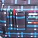 Сумка на ремне BRAUBERG (БРАУБЕРГ) B-HB1428, для старшеклассников/<wbr/>студентов, голубая/<wbr/>серая, «Килт», 37×27×10 см