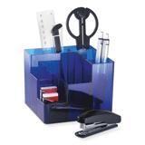 Канцелярский набор BRAUBERG (БРАУБЕРГ), 9 предметов, вращающаяся конструкция, синий, картонная коробка