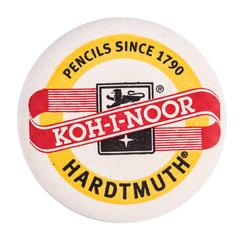 Резинка стирательная KOH-I-NOOR, круглая, диаметр 41 мм, белая, картонный дисплей