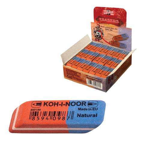 Резинка стирательная KOH-I-NOOR прямоугольная, скошенные углы, 42×14×8 мм, красная/<wbr/>синяя, картонный дисплей