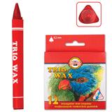 Восковые карандаши KOH-I-NOOR «Trio Wax», 12 цветов, трехгранные, картонная упаковка с европодвесом