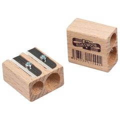 Точилка KOH-I-NOOR, 2 отверстия, деревянная, прямоугольная
