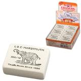 Резинка стирательная KOH-I-NOOR «Слон», прямоугольная, 48×37×16 мм, белая, картонный дисплей