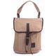 Рюкзак BRAUBERG (БРАУБЕРГ) W-142 для старшеклассников/<wbr/>студентов, 15 л, холщ., иск.кожа, универс, бежевый, «Сафари», 31×29×14 см