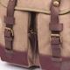 Сумка на ремне BRAUBERG (БРАУБЕРГ) W-148, для старшеклассников/<wbr/>студентов, холщовая, универсальная, коричневая, «Лион», 28×11×31см