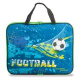 Папка-сумка BRAUBERG PREMIUM (БРАУБЕРГ ПРЕМИУМ), A4, на молнии, с ручками, ткань, для мальчиков, матч, 33×26 см