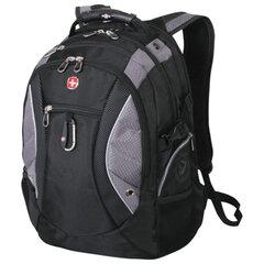 Рюкзак WENGER (Швейцария), универсальный, черно-серый, 39 литров, 36×23×47 см