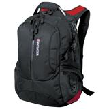 Рюкзак WENGER (Швейцария), универсальный, 30 л, черный, красные вставки, 35×20×47 см