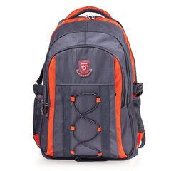 Рюкзак для школы и офиса BRAUBERG «SpeedWay 1», 25 л, размер 46×32×19 см, ткань, серо-оранжевый
