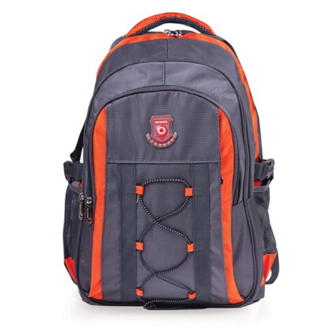 "Рюкзак для школы и офиса BRAUBERG ""SpeedWay 1"", 25 л, размер 46х32х19 см, ткань, серо-оранжевый"