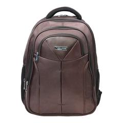 Рюкзак для школы и офиса BRAUBERG «Toff», 32 л, размер 46×35×25 см, ткань, коричневый