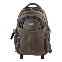 Рюкзак для школы и офиса BRAUBERG «Jax 1», 30 л, размер 43×33×23 см, ткань, на колесах, черно-коричневый