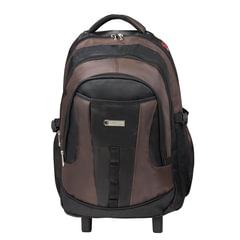 Рюкзак для школы и офиса BRAUBERG «Jax 2», 35 л, размер 54×37×23 см, ткань, на колесах, черно-коричневый