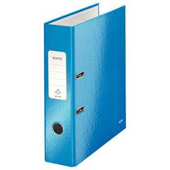 Папка-регистратор LEITZ «WOW», механизм 180°, с покрытием из полипропилена, 80 мм, голубая