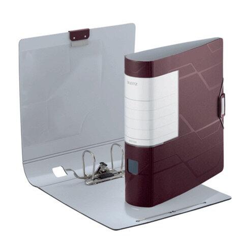 Папка-регистратор LEITZ «Active Prestige», механизм 180°, полифом (пластик), 82 мм, махаон
