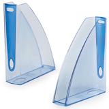 Лоток вертикальный для бумаг LEITZ «Allura», ширина 75 мм, тонированный голубой, голубая вставка