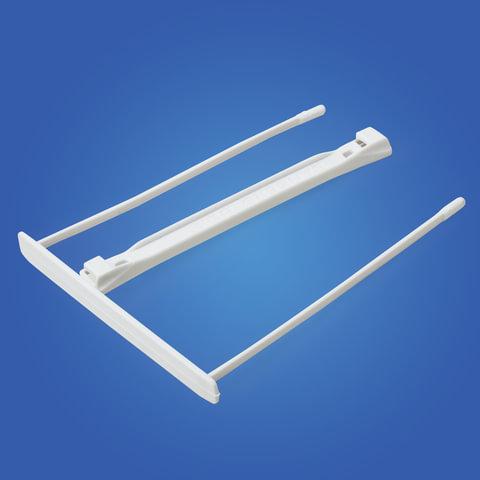 Механизмы для скоросшивания пластиковые FELLOWES (Bankers Box), комплект 100 шт., пластик, белые
