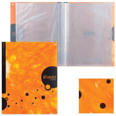 Папка 20 вкладышей HATBER HD, «iFRESH-апельсин», 0,9 мм, 20AV4 11263