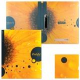Папка на 2 кольцах HATBER HD, 25 мм, «iFRESH-цветок», до 120 листов, 0,9 мм