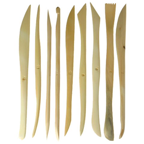 "Стеки для лепки ""Сонет"", набор 9 шт., дерево, длина 15 см"