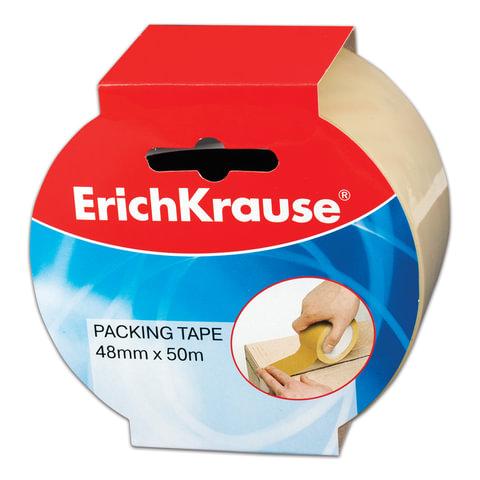 Клейкая лента 48 мм х 50 м, упаковочная ERICH KRAUSE, прозрачная, 45 мкм