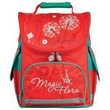 Ранец жесткокаркасный BRAUBERG (БРАУБЕРГ) для учениц начальной школы, 17 л, красный, «Одуванчик», 34×26×16 см