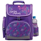 Ранец жесткокаркасный BRAUBERG (БРАУБЕРГ) для учениц начальной школы, 20 л, фиолетовый, «Мелодия», 38×29×16 см