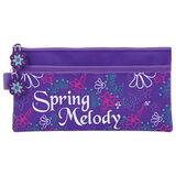 Пенал-косметичка BRAUBERG (БРАУБЕРГ) для учениц начальной школы, фиолетовый, «Мелодия», 21×11 см