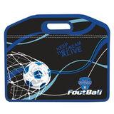 Сумка пластиковая BRAUBERG (БРАУБЕРГ), A4, на молнии, цветная печать, для мальчиков, футбол, 37×30 см