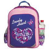 Рюкзак ПИФАГОР для учениц начальной школы, «Прекрасное сердце», 15 литров, 38×28×14 см