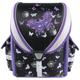 Ранец жесткокаркасный BRAUBERG (БРАУБЕРГ) для учениц начальной школы, 17 л, черный/<wbr/>фиолетовый, «Бабочки», 36×26×17 см